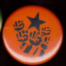 STENCILED RAISED FISTS pinback button badge 1.25""
