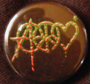 1 ANARCHY PEACE & LOVE pinback button badge 1.25""