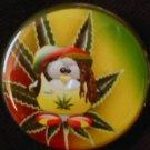 "1 RASTA PENGUIN pinback button badge 1.25"""