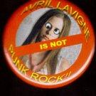 Avril Lavigne is not Punk Rock!  pinback button badge 1.25""