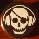 1 MUSIC PIRATE #2 pinback button badege 1.25""