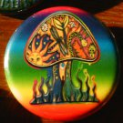 1 PSYCHEDELIC RAINBOW MUSHROOM pinback button badge 1.25""