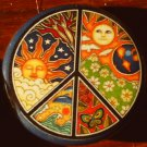 1 PSYCHEDELIC PEACE SIGN pinback button badge 1.25""