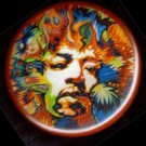 Psychedelic Jimi Hendrix pinback button badge 1.25""