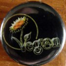 Anarcho-Vegan pinback button badge 1.25""
