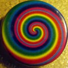 RAINBOW SWIRL pinback button badge 1.25""
