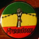 RASTA FREEDOM pinback button badge 1.25""