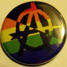 ANARCHO-RAINBOW pinback button badge 1.25""