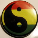 RASTA YIN YANG pinback button badge 1.25""