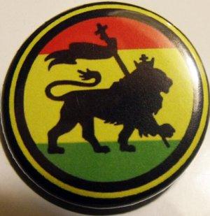 """RASTA - LION OF JUDAH #1 pinback button badge 1.25"""""""