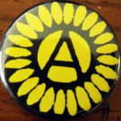 Anarchy Sunflower pinback button badge 1.25""