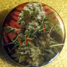 MARIJUANA AK-47 pinback button badge 1.25""