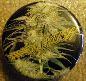 "MARIJUANA HINDU KUSH pinback button badge 1.25"""