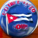 """END THE EMBARGO NOW!"" - CUBAN FLAG pinback button badge 1.25"""