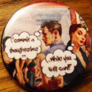 "GEORGE ORWELL'S 1984 -  ""COMMIT A THOUGHTCRIME..."" pinback button badge 1.25"""