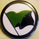GREEN ANARCHIST FLAG pinback button badge 1.25""