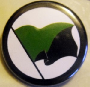ANARCHO-PRIMITIVIST FLAG pinback button badge 1.25""
