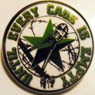 UNTIL EVERY CAGE IS EMPTY pinback button badge 1.25""