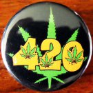 420 LEAF #2 pinback button badge 1.25""