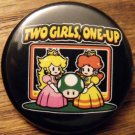 2 GIRLS 1 UP pinback button badge 1.25""