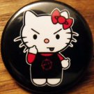 ANARCHO KITTY pinback button badge 1.25""