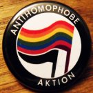 ANTIHOMOPHOBE AKTION pinback button badge 1.25""