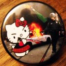 RIOT KITTY pinback button badge 1.25""
