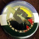 CASCADIA FLAG W/ MEDICINE WHEEL, RAISED FIST W/SAGE pinback button badge 1.25""