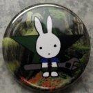 "CASCADIA SAB BUNNY pinback button badge 1.25"""