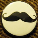 MOUSTACHE pinback button badge 1.25""