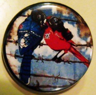 "BIRDS OF DYSTOPIA pinback button badge 1.25"""