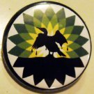 BP SPILLS OIL pinback button badge 1.25""