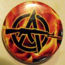 FLAMING AK ANARCHY pinback button badge 1.25""