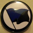 ANARCHO-TRANSHUMANIST FLAG pinback button badge 1.25""