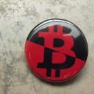 ANARCHO-SYNDICALIST BITCOIN pinback button badge 1.25""