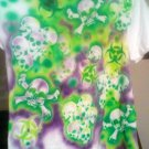 One of a kind XL air-brushed skulls and biohazard T-shirt - prewashed and new