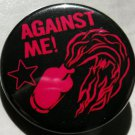 AGAINST ME! pinback button badge 1.25""