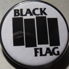 BLACK FLAG pinback button badge 1.25""