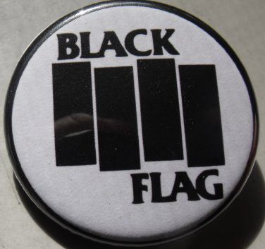 "BLACK FLAG pinback button badge 1.25"""