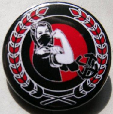 """FASH BASH WOMAN pinback button badge 1.25"""""""
