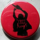 FREE HUGS!  pinback button badge 1.25""