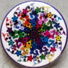 FLOWER SPIRAL pinback button badge 1.25""