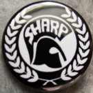 S.H.A.R.P. pinback button badge 1.25""