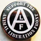 ALF - SUPPORT THE ANIMAL LIBERATION FRONT pinback button badge 1.25""