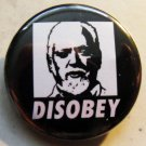 ROBERT ANTON WILSON - DISOBEY pinback button badge 1.25""