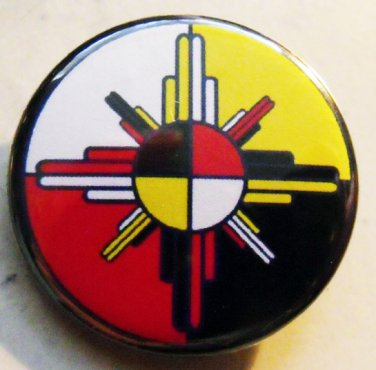 "MEDICINE WHEEL pinback button badge 1.25"""
