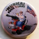 'MURICA!  FUCK YEAH! pinback button badge 1.25""