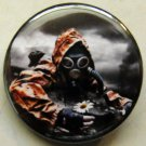 GAS MASK #14 pinback button badge 1.25""