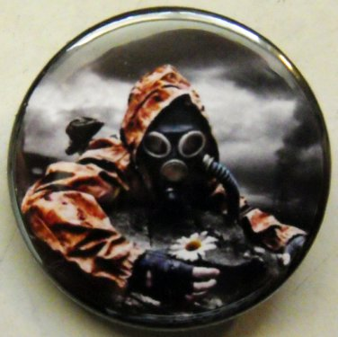 "GAS MASK #14 pinback button badge 1.25"""