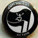 ANTI-ABLEIST ACTION pinback button badge 1.25""